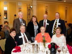 Front Row: Pat Jamros '63, Hank Brown '63, Cynthia Picken Brown '63, Barbara Kimball Mackey '63; Back Row: Jim Parker '63, Donna Sargent '70, Bernie Ready '63, Bob Mackey '63