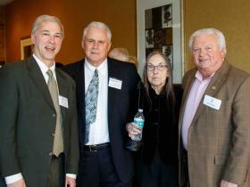 Paul Cohen, Town Manager George Dixon, Jr. '64 Carole Alexander '66 John Harrington '64