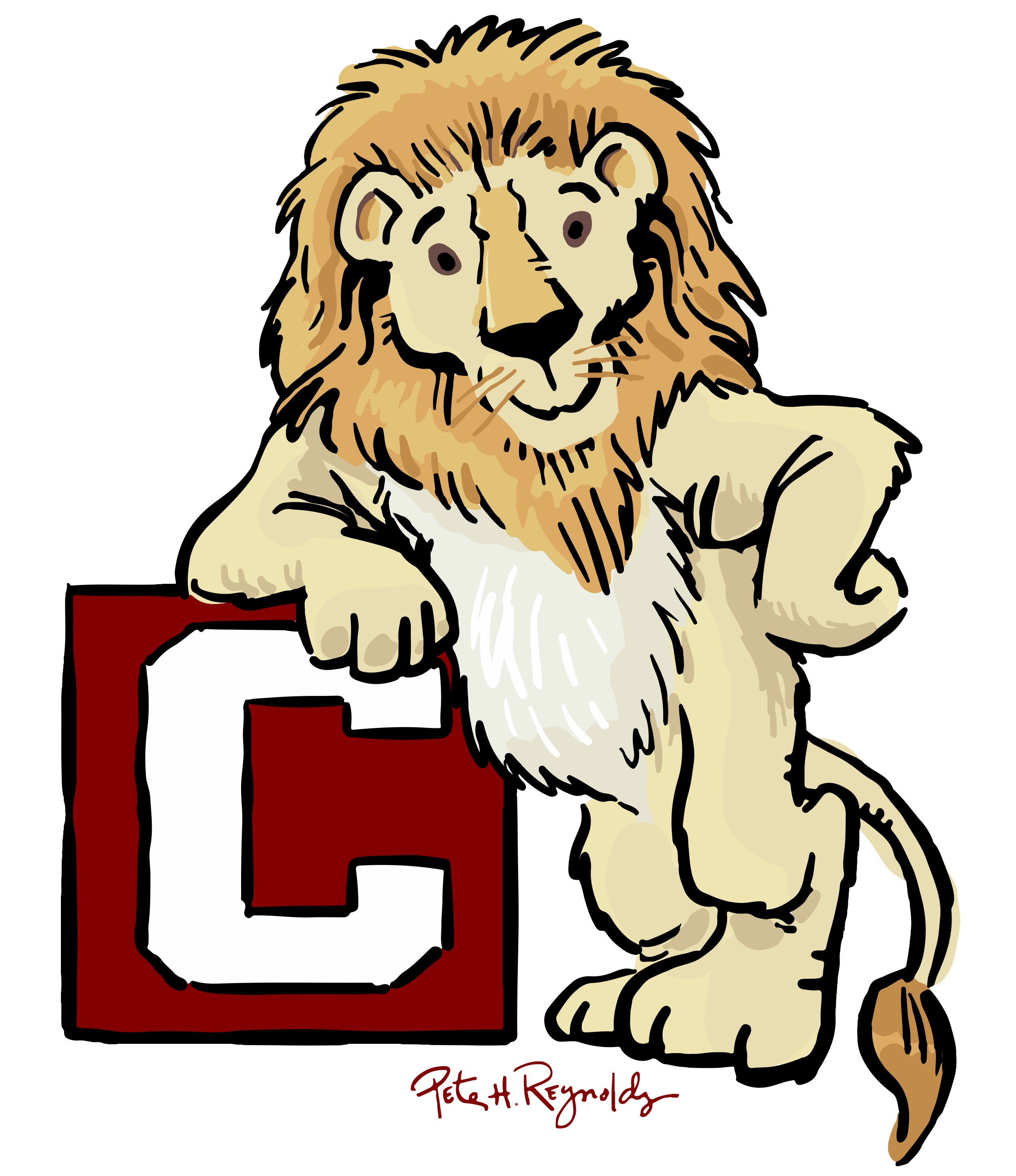 CHS Red Block Lion