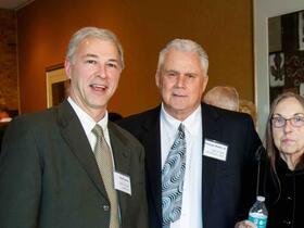 Paul Cohen, Town Manager George Dixon, Jr. '64 Carole Alexander '66 John Harrington '64